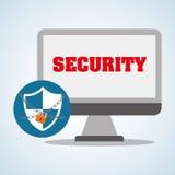 Progettazione di sistema di sicurezza, avvertimento e concetto di tecnologia Immagini Stock Libere da Diritti