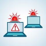 Progettazione di sistema di sicurezza, avvertimento e concetto di tecnologia Immagine Stock Libera da Diritti