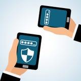 Progettazione di sistema di sicurezza, avvertimento e concetto di tecnologia Fotografia Stock