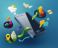 Progettazione di Smartphone illustrazione di stock