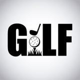 Progettazione di sport di golf illustrazione di stock