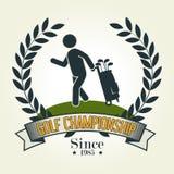 Progettazione di sport di golf Fotografie Stock