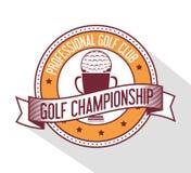 Progettazione di sport di golf Fotografia Stock Libera da Diritti