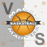 Progettazione di sport di pallacanestro di follia di marzo illustrazione vettoriale