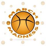Progettazione di sport di pallacanestro di follia di marzo illustrazione di stock