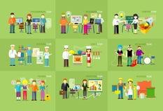 Progettazione di Team People Job Concept Flat del lavoro Immagine Stock Libera da Diritti
