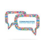 Progettazione di tecnologia della comunicazione illustrazione vettoriale