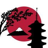 Progettazione di tema del Giappone illustrazione di stock