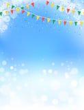 Progettazione di tema delle stamine e del cielo blu della primavera Fotografia Stock Libera da Diritti