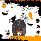 Progettazione di tema di Halloween Fotografia Stock