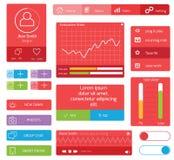 Progettazione di UI Immagine Stock