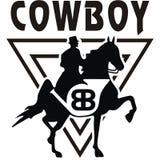 Progettazione di Vector del cowboy dell'illustrazione Immagini Stock Libere da Diritti