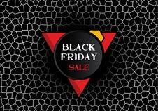 Progettazione di progettazione di vendita di Black Friday Illustrazione aggressiva di vettore dell'insegna Fotografia Stock Libera da Diritti