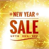 Progettazione di vendita del nuovo anno Fotografie Stock Libere da Diritti