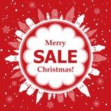 Progettazione di vendita di Natale Immagini Stock