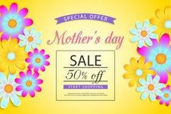 Progettazione di vendita di festa della mamma illustrazione di stock