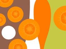 Progettazione di verdure astratta con le carote illustrazione vettoriale
