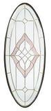 Progettazione di vetro isolata per la porta di legno con fondo bianco Fotografie Stock