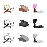 Progettazione di vettore di alimento e del simbolo squisito Metta di alimento e dell'illustrazione di riserva marrone di vettore royalty illustrazione gratis