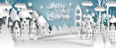 Progettazione di vettore di Buon Natale Buon anno 2019 e Buon Natale illustrazione di stock