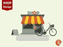 Progettazione di vettore dei depositi dei negozi Immagini Stock Libere da Diritti