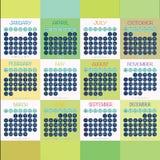Progettazione di vettore del calendario 2016 Fotografia Stock Libera da Diritti
