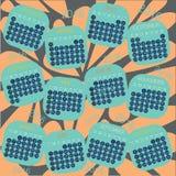 Progettazione di vettore del calendario 2016 Immagine Stock Libera da Diritti