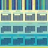 Progettazione di vettore del calendario 2016 Fotografia Stock