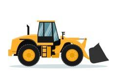Progettazione di vettore del caricatore anteriore Macchinario pesante illustrazione di stock