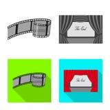 Progettazione di vettore del logo di contaminazione e della televisione Insieme della televisione e dell'illustrazione di riserva royalty illustrazione gratis