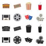 Progettazione di vettore del logo di contaminazione e della televisione Metta della televisione e del simbolo di riserva d'esame  royalty illustrazione gratis