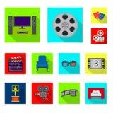 Progettazione di vettore del logo di contaminazione e della televisione Raccolta della televisione e dell'illustrazione di riserv royalty illustrazione gratis
