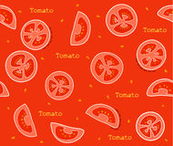 Progettazione di vettore del modello dei pomodori delle verdure fotografia stock libera da diritti
