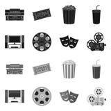 Progettazione di vettore del segno di contaminazione e della televisione Raccolta della televisione e del simbolo di riserva d'es illustrazione di stock
