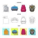 Progettazione di vettore del simbolo del bagaglio e della valigia Insieme del simbolo di riserva di viaggio e della valigia per i illustrazione vettoriale
