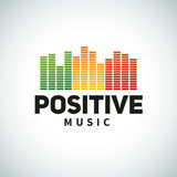 Progettazione di vettore dell'emblema di logo dell'equalizzatore di musica di reggae Immagine Stock