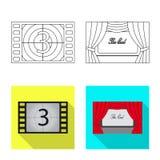 Progettazione di vettore dell'icona di contaminazione e della televisione Metta della televisione e dell'icona d'esame di vettore illustrazione vettoriale