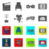 Progettazione di vettore dell'icona di contaminazione e della televisione Raccolta della televisione ed icona d'esame di vettore  royalty illustrazione gratis