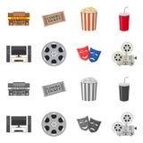 Progettazione di vettore dell'icona di contaminazione e della televisione Raccolta della televisione e dell'illustrazione di rise royalty illustrazione gratis