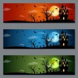 Progettazione di vettore delle insegne di Halloween Fotografie Stock Libere da Diritti