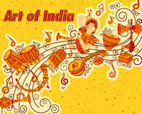 Progettazione di vettore di arte e di musica India immagini stock