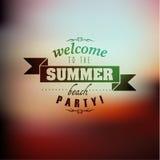 Progettazione di vettore di citazione di vacanza estiva di tipografia Fotografia Stock Libera da Diritti