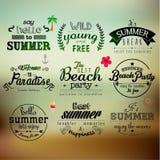 Progettazione di vettore di citazione di vacanza estiva di tipografia Immagine Stock Libera da Diritti