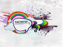 Progettazione di vettore di fantasia di turbinio dell'arcobaleno Fotografia Stock Libera da Diritti