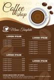 Progettazione di vettore di ordine del menu della caffetteria di Brown Immagini Stock