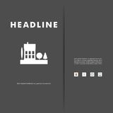 Progettazione di vettore di paesaggio urbano nero ENV della siluetta Fotografia Stock