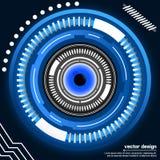 Progettazione di vettore di visione dell'occhio Fotografia Stock