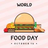 Progettazione di vettore di giorno di alimento di mondo Immagine Stock