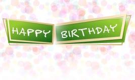 Progettazione di vettore per la cartolina d'auguri al buon compleanno illustrazione vettoriale
