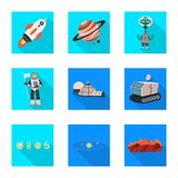 Progettazione di vettore di scienza e del segno cosmico Raccolta dell'illustrazione di riserva di vettore di scienza e tecnologia royalty illustrazione gratis